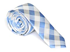 Skinny Tie Madness Riddle Me Blue