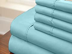Microfiber 6-Piece Sheet Set