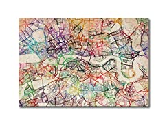 London Street Map V' Canvas Art- 2 Sizes