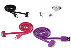 Flat USB to 30-pin Cable