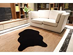 "30"" x 50"" Faux Sheepskin Area Rug"