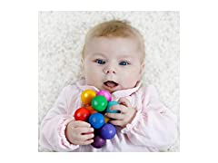 Rainbow Wooden Teething and Grasping Ring Toy