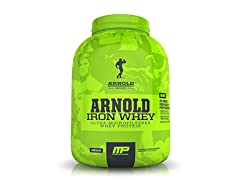MusclePharm 5lb. Arnold Iron Whey Strawberry Banana