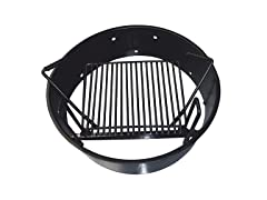 "Yard Tuff 36"" Fire Ring with Grate Black"