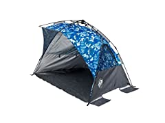 E-Z UP Wedge Portable Beach Tent 4 Person UV with Carry Bag