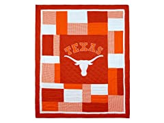 University of Texas Quilted Throw B