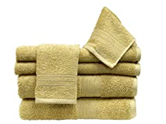 6Pc Towel Set-Suede
