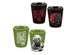 2pc Star Wars 2oz Ceramic Shot Glass