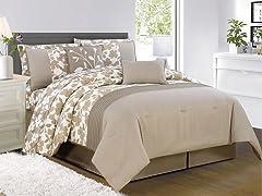 Leila 10 Piece Embellished Comforter Set- Queen