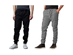 Mens 2Pack Nylon Blend Cargo Jogger
