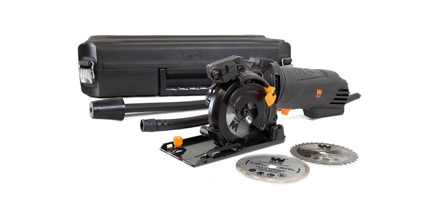 """WEN 4.2-Amp 3-3/8"""" Compact Circular Saw Kit"""