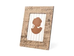 Galt French Burlap Photo Frames
