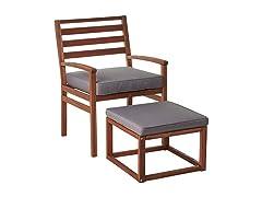 Villa Modern Patio Chair & Ottoman Set