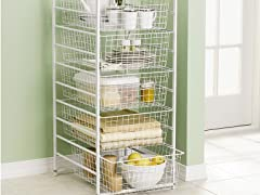 5-Drawer Wire Basket System