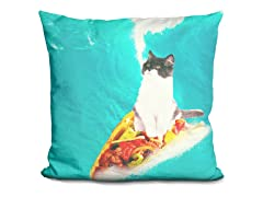 Kitty Cat Surfing Taco Pillow