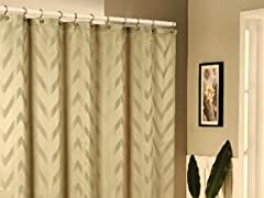 Behrakis Jacquard Shower Curtain - Beige