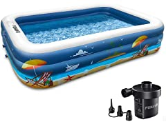 FUNAVO Inflatable Swimming Pool