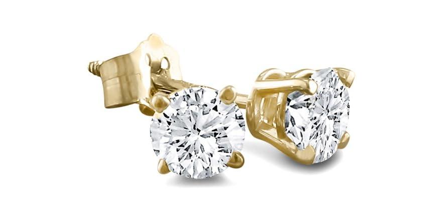 Best diamond stud earrings deals