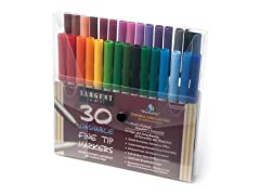 Sargent Art 30 Washable Markers - Fine Tip