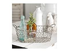 CTW Home Collection Oval Wire Basket