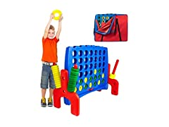 Jr Giant 4 in a Row Connect Game w/ Bag