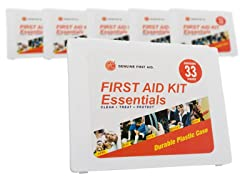 Tender Corp 33-Piece First Aid Kit 6pk