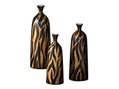 Tribal Zebra Print Bottle Set