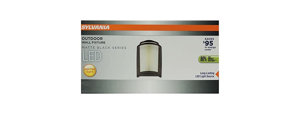 LED Outdoor Wall Fixture, Matte Black