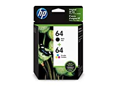 HP 64 | 2 Ink Cartridges | Black, Tri-color
