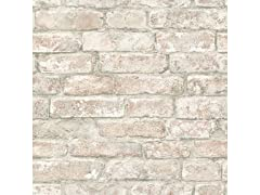 White Washed Denver Brick Peel & Stick Wallpaper