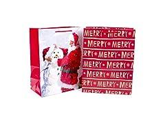 Hallmark Large Christmas Gift Bags w/Handles-2PK