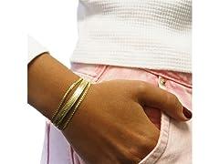 Gold 3-Row Herringbone Bracelet