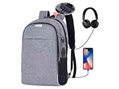 Deep Storage Backpack with USB Charging