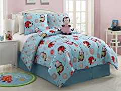 Reversible Bedding Set (Twin or Full)-Ladybug