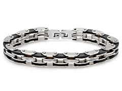 Two-Tone Stainless Steel Bracelet