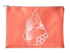 """Sunny Pineapple"" Accessory Pouch"