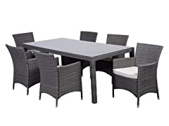 7-Piece New Liberty Wicker Dining Set