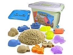 CoolSand Deluxe Bucket Kinetic Sand w/ Inflatable Sandbox