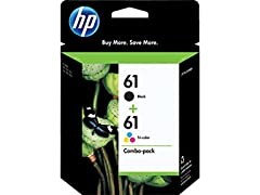 HP 61 BlackTriColor Original Ink Cartridges Combo