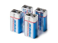 9 Volt Alkaline Batteries - 4 Pack