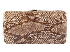 Vecelli Italy Snake Wallet, Tan