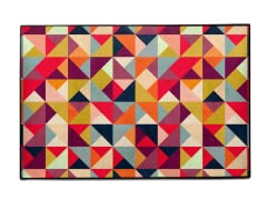 """Bright Geometry"" Indoor/Outdoor Mat"