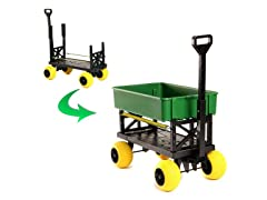 Multi Purpose Green Tub Utility Wagon