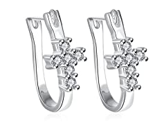 Swarovski Crystal Cross Imprint Earring