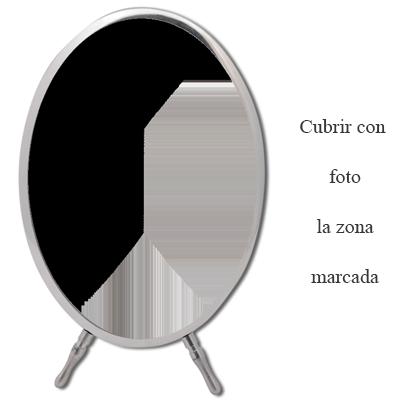 Foto nicho personalizado, ovalado con marco y pie - 7 x 10 cm: Amazon.es: Hogar