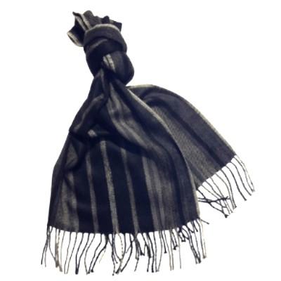 Personalized wide winter Chevron scarf for men