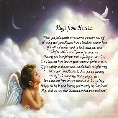 Amazon Com Personalized Bereavement Poem Gift Hugs From