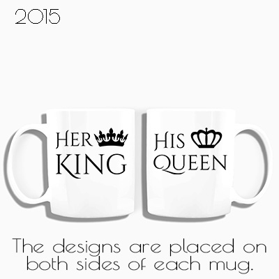 Amazon Her King & His Queen Couple Coffee Mugs His and Hers