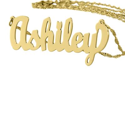 Amazon Com Soul Jewelry Dainty Name Necklace 10k Gold