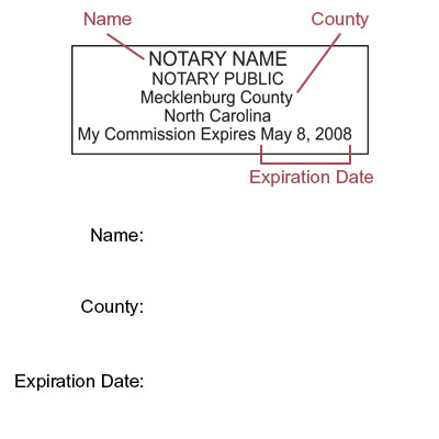 Amazon excelmark self inking notary stamp north carolina error message ccuart Image collections